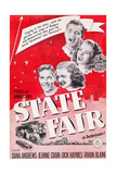 State Fair, from Top: Dana Andrews, Jeanne Crain, Vivian Blaine, Dick Haymes, 1945 Print