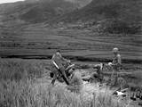 U.S. Soldiers of a 4.2 Mortar Crew Returns Enemy Fire in Battle of Masan in South Korea Prints