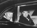 President Eisenhower and Vice President Richard Nixon in a Limousine Posters