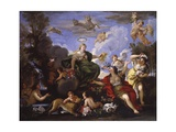 Triumph of Flora or Primavera, Copy after Luca Giordano, 16th C Póster por Luca Giordano
