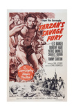 Tarzan's Savage Fury, Top from Left: Dorothy Hart, Lex Barker, Tommy Carlton, 1952 Prints