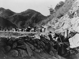 U.S. 3rd Army Division Patrol Pinned Down by Chinese Fire from the Hills Posters