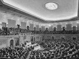 President Harry Truman Delivering His State of the Union Address to a Joint Session of Congress Photo