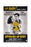 Bringing Up Baby, from Left: Katharine Hepburn, Cary Grant, 1938 Poster