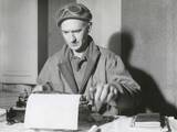 Ernie Pyle, War Correspondent, at His Typewriter While Reporting from the Anzio Beachhead, Italy Prints