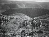 U.S. First Ranger Battalion on a Speed March over Hilly Terrain at Arzew, Algeria, North Africa Photo