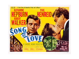 Song of Love, from Left: Robert Walker, Katharine Hepburn, Paul Henreid, 1947 Posters