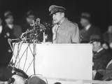 General Douglas Macarthur Addressing an Audience of 50,000 at Soldier's Field Photo