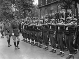 General Charles De Gaulle, Inspecting Free French Forces During Bastille Day Ceremonies in London Photo