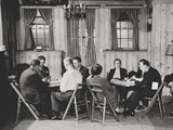 Groups of Men and Women Playing Bridge in Manhattan Alcoholics Anonymous Club Room Posters