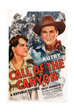 Call of the Canyon, from Left: Ruth Terry, Gene Autry, 1942 Art