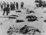 Bodies of Dead Egyptian Soldiers Lying in the Sinai Desert Following Israeli Advance Photo