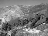 U.S. Marine Infantrymen Engage Chinese Forces at the Chosin Reservoir Photo