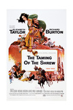 The Taming of the Shrew, Top, from Left: Elizabeth Taylor, Richard Burton, 1967 Print