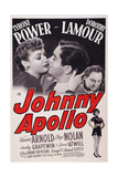 Johnny Apollo, from Left: Dorothy Lamour, Tyrone Power, Edward Arnold, 1940 Poster