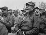 Soldiers Laughing to the Bob Hope Show at Seoul, Korea. Oct. 23, 1950 Photo