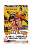 Valley of the Sun, from Left: James Craig, Lucille Ball, 1942 Giclee Print