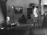 President Eisenhower Speaks to the Nation on Cold War Tensions over Berlin Prints