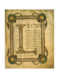 Manuscript Page with Illuminated Capital Letter L. 9th-10th C. Turin, Italy Prints