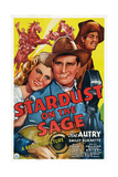 Stardust on the Sage, from Left: Louise Currie, Gene Autry, Smiley Burnette, 1942 Poster
