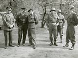British and American World War 2 Commanders During a Visit by Winston Churchill Photo