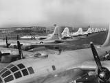 Eleven B-29's in the Boeing-Wichita Assembly Factory Awaiting Final Flight Tests Photo