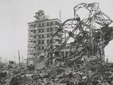 News Photographer (Lower Left) Documenting Ruins in Hiroshima in 1947 Prints
