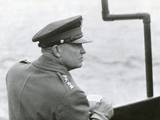 Gen. Dwight Eisenhower Sailing to the Normandy Landing Site the Day after the D-Day Invasion Prints