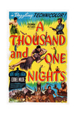 A Thousand and One Nights, Center: Cornel Wilde, Adele Jergens, Top Right: Phil Silvers, 1945 Plakater