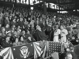 President Harry Truman Tosses a Baseball from the Stands to Open the Season Photo