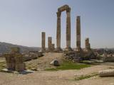 Ruins of Roman Temple of Hercules, Amman, Jordan, 162-66 Photo