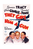 They Gave Him a Gun, from Left: Spencer Tracy, Gladys George, Franchot Tone, 1937 Prints
