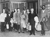 The First 'Freedom Riders' Holding Suitcases Outside the Office of Attorney S.W. Robinson Posters