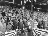 President Harry Truman About to Throw the First Ball at the 1951 of the Season at Griffith Stadium Posters