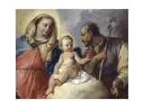 The Holy Family Appears to a Saint Prints by Francesco Zugno