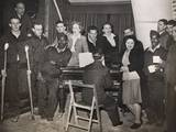 American Gis are Entertained by Pianist Horatio Davies, at a Military Hospital in West England Photo