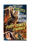 First Comes Courage, Top: Brian Aherne; Bottom from Left: Brian Aherne, Merle Oberon, 1943 Posters