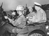 U.S. Commanders, Gen. Douglas Macarthur and Marine Gen. Oliver Smith, Tour of Inchon Beach Prints