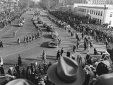 Procession of Limousines as President Harry Truman Rides in the Inaugural Parade Photo