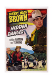 Hidden Danger, from Left: Raymond Hatton, Max Terhune, Johnny Mack Brown, 1948 Print