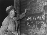 A Coal Loader Putting Up His Check at the End of Day's Work on Friday, Sept. 13, 1946 Print by Russell Lee