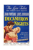 Decameron Nights, from Left: Louis Jourdan, Joan Fontaine, 1953 Giclee Print