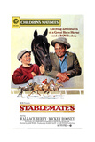 Stablemates, from Left: Mickey Rooney, Wallace Beery, 1938 Giclee Print
