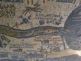 Madaba Mosaic Map, Detail of River Jordan, 542-570 Photo