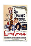 The Leech Woman, from Left: Coleen Gray, Grant Williams, 1960 Art