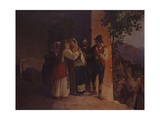 Departure from the Family Home of a Farmer Bride in Another Village, 1855 Posters by Eleuterio Pagliano