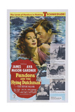 Pandora and the Flying Dutchman, from Left: Ava Gardner, James Mason, 1951 Affiches