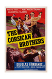 The Corsican Brothers, from Left: Akim Tamiroff, Ruth Warrick, Douglas Fairbanks, Jr., 1941 Poster