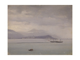 Steam Boat on Lake Maggiore, 1847-52 Print by Costantino Prinetti