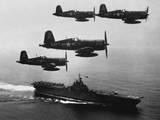 F4U's (Corsairs) Returning from a Combat Mission over North Korea to the USS Boxer Photo
